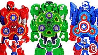 Avengers Hulk Mech suit armor and fidget spinner combine! | DuDuPopTOY