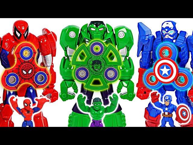 Avengers Hulk Mech suit armor and fidget spinner combine!   DuDuPopTOY