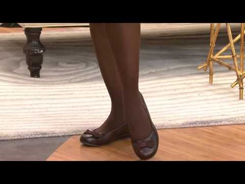 Vionic w/ Orthaheel Orthotic Leather Mini Wedges - Lydia with Albany Irvin