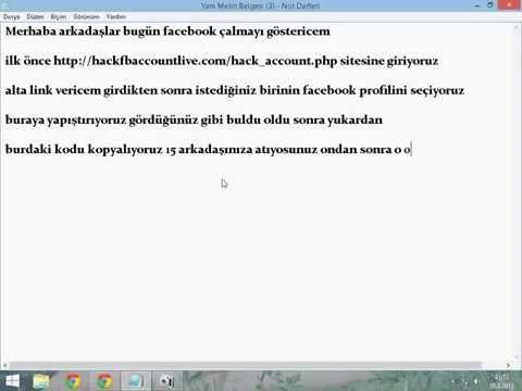 hackfbaccountlive. com/hack - Facebook çalma