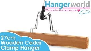 Hangerworld - Wooden Cedar Clamp Hanger - 27cm