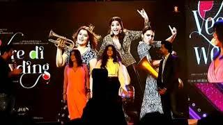 Music Launch of Veere Di Wedding.  Kareena Kapoor Khan Sonam Kapoor Swara Bhaskar Shikha Talsania