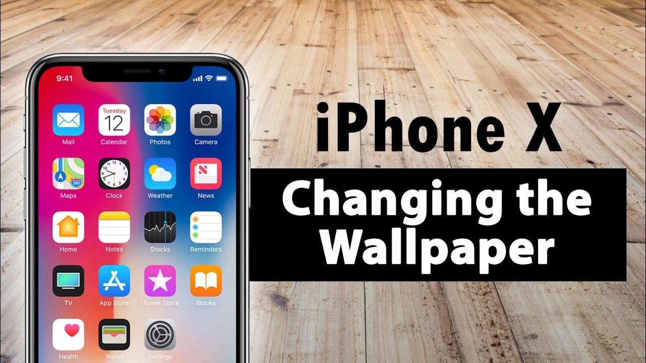 Iphone X How To Change The Wallpaper On The Home Screen Lock Screen