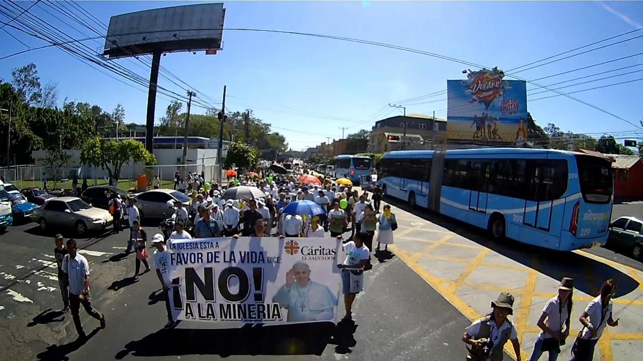 Población rechaza la minería en El Salvador.