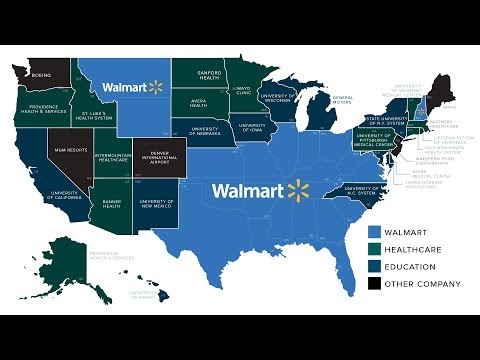 Walmart Nation: Mapping the Largest Employers in the U.S.