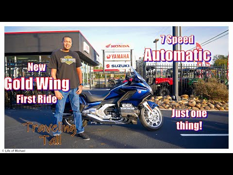 New Honda Goldwing Harley-Davidson owner rides the New Automatic Goldwing