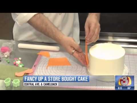 Cake Decorating Pre Made Icing : How to jazz up a store bought cake - Kick Ass Kakes - YouTube