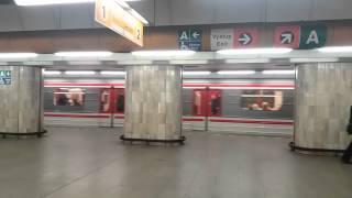 поездка на пражском метро.Линии A,B