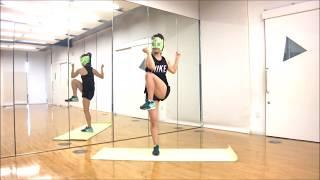 茶マスクがエクササイズをしてみました。参照DVD…「BIKINI SIZE」CYBERJ...