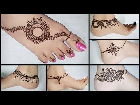Best anklets feet mehndi design