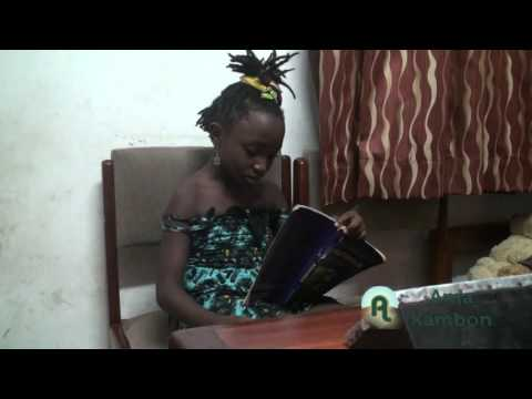 Ama Kambon Reading an Ananse Story on the Origin of Life and Death