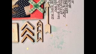 Process video - Hello  Love (crate paper wonder and love notes collections)