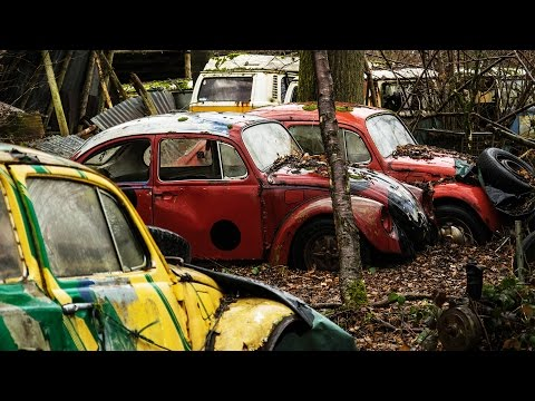 VOLKSWAGEN GRAVEYARD: Vintage, Army & Rally Cars - Urbex Lost Places Abandoned Belgium