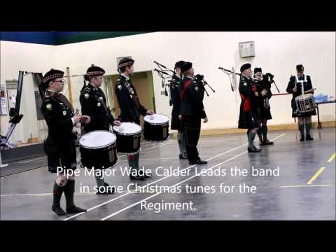 Canadian Scottish Regiment - Pipes and Drums Christmas 2015