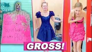 How Alexia got ASKED To Her FIRST Prom and Trying on TERRIBLE Prom Dresses!