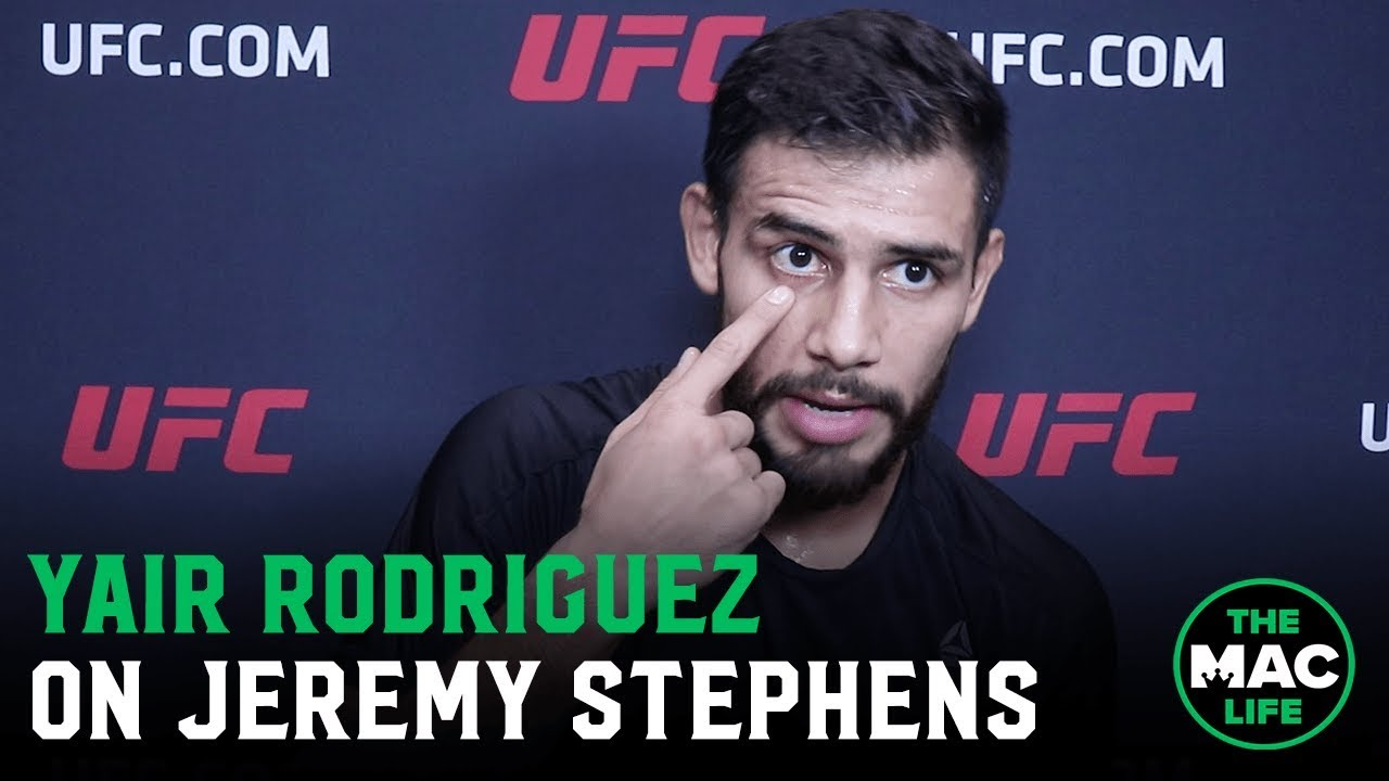 Yair Rodriguez I Still Think Jeremy Stephens Could Have Continued After Eye Poke
