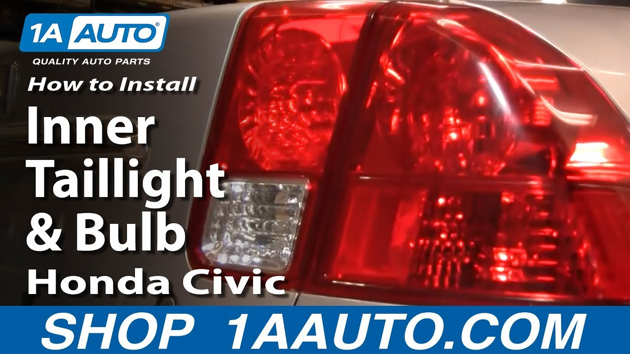 How to Replace Tail Light 0305 Honda Civic  YouTube