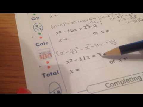 10ma1 MyMaths Completing The Square Q2