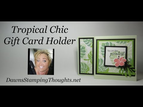 Tropical Chic Gift Card Holder