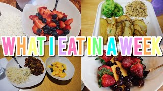 What I Eat In A Week | College Dining Halls As A Vegan!