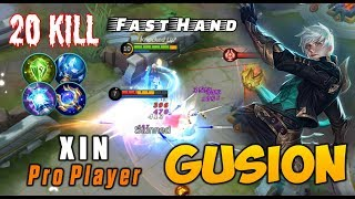 WOW 20 Kills! Hypercarry Gusion Insane - Top 1 Gusion Indonesian By XIN Mobile Legends