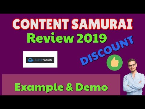 Content Samurai Review 2019 | Discount | Example & Demo | Black Friday | Now Vidnami Review thumbnail