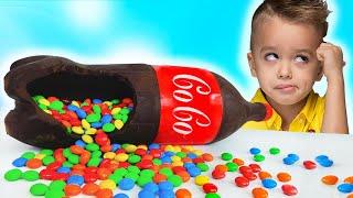 Vlad y Niki Chocolate & Soda Challenge para mamá