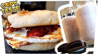 Egg McMuffin & Oreo-Milk Shake einfach selber machen! 🥚🍔🥛 Copy & Taste #CaT