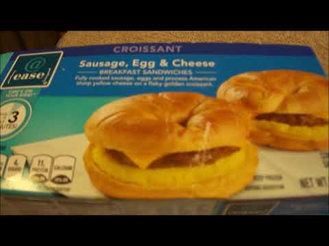 @ Ease Sausage, Egg, & Cheese Croissant Breakfast Sandwich
