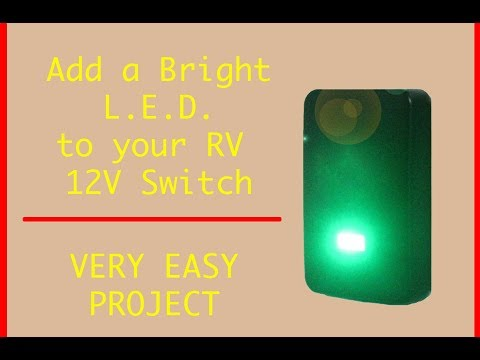 Add LED light to RV unlighted switch ( 2019 ) - YouTube
