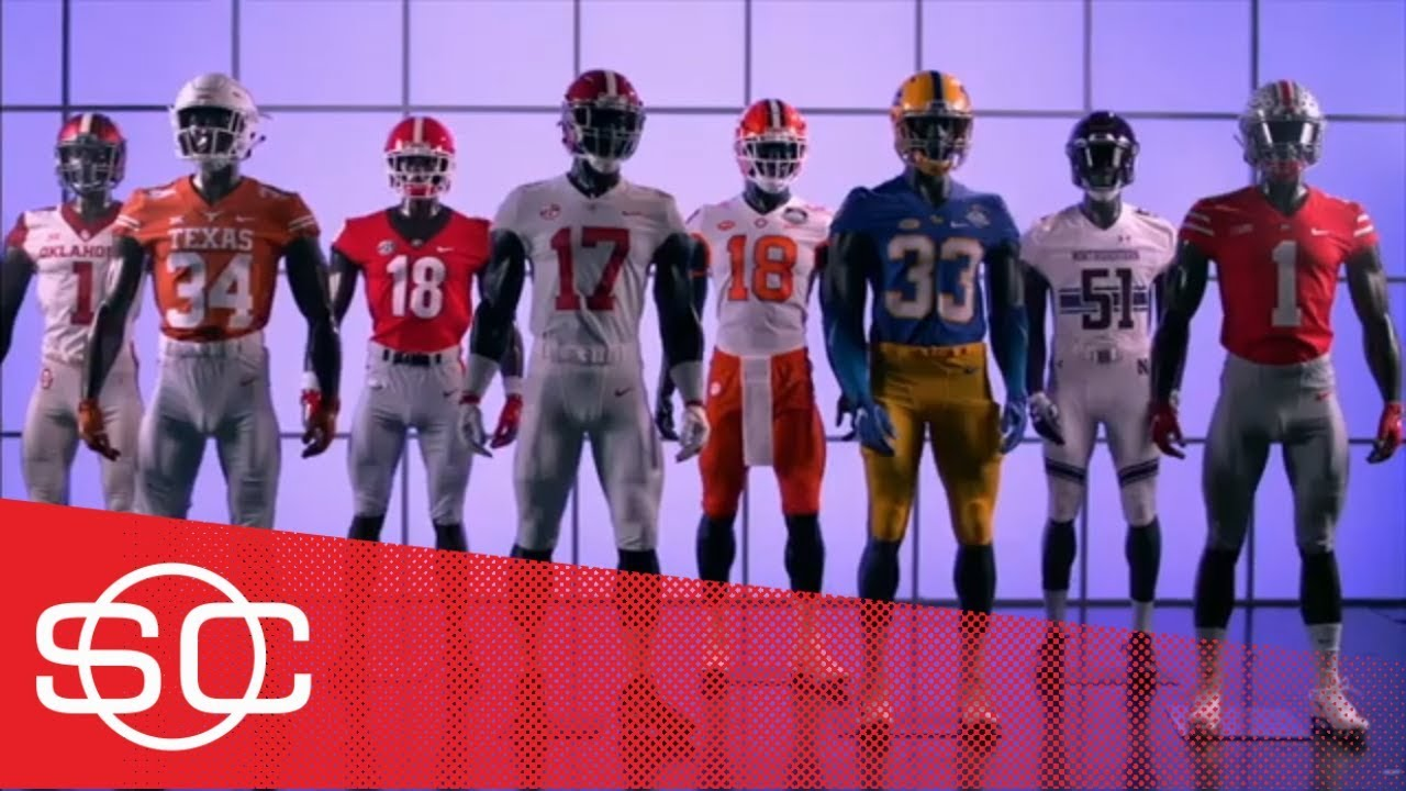 new concept 02d9a 49e23 2018 college football Champ Week uniforms: Georgia, Alabama, Oklahoma, OSU  & Clemson | SportsCenter