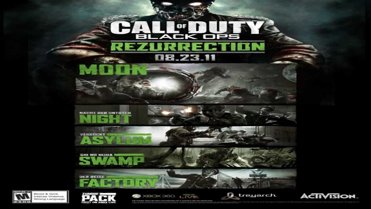 Cod Black Ops Zombies Rezurrection Map Pack Swamp Gameplay