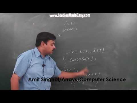 Array / Computer Science/ Amit Singhal