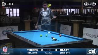 USBTC 9-Ball: Billy Thorpe vs Jason Klatt