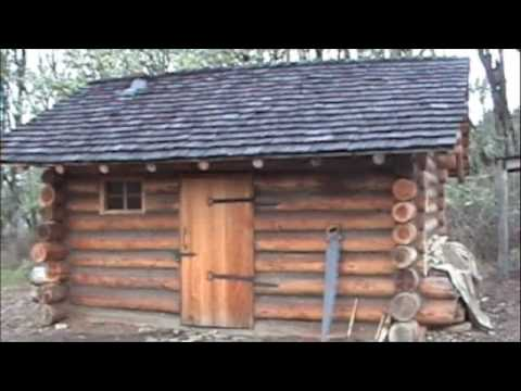 the living history school 39 s pioneer log cabin tour youtube. Black Bedroom Furniture Sets. Home Design Ideas