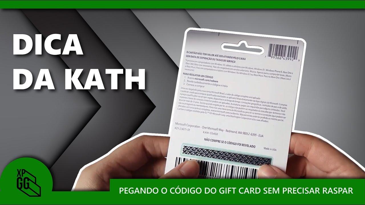 Pegando O Cdigo Do Gift Card Sem Precisar Raspar YouTube