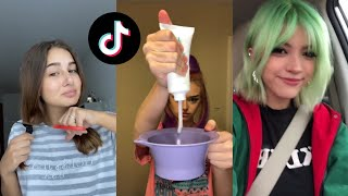 People cutting ✂/dying their hair at home (fails and wins) | tiktok compilation 💇‍♀️