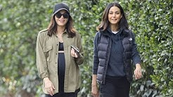 Pregnant Jenna Dewan Takes A Hike With BFF Emmanuelle Chriqui