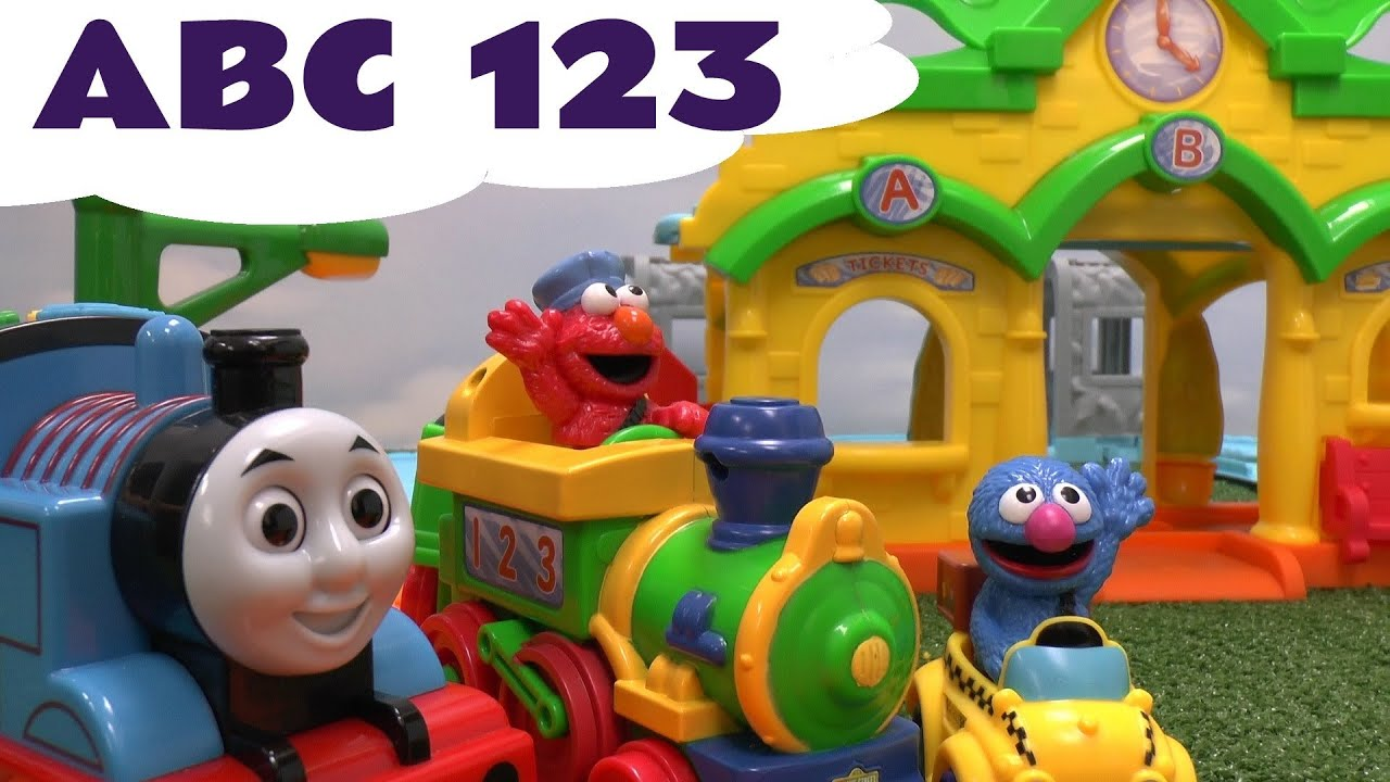Alphabet Sesame Street ABC 123 Elmo Train meets Thomas The Train