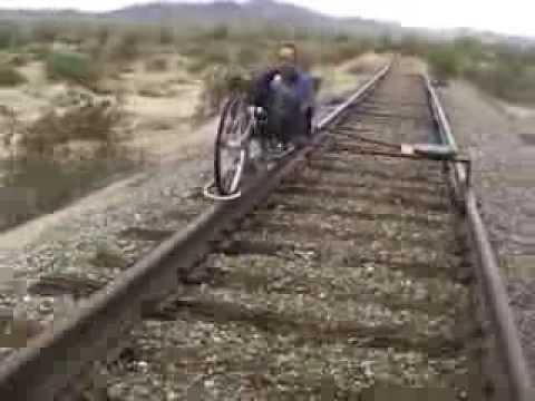 railroad recumbent bicycle test 2013