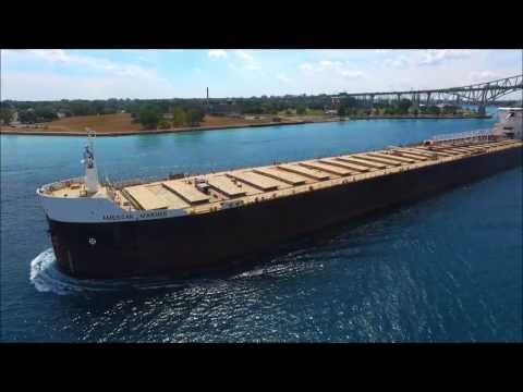 AMERICAN MARINER  - Upbound Port Huron, Michigan  8-9-2016