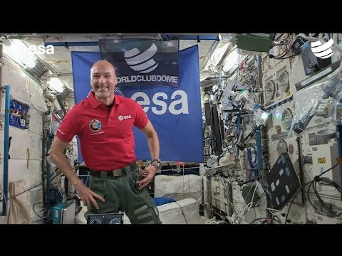 Astronaut leads first-ever live-streamed DJ set from space using an iPad