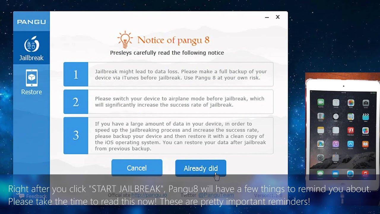 jailbreak ios 8.3 - pangu8