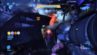 """Halo:Reach """"Game, Set, Match"""" achievement (with Firestarter and Crowd Control)"""