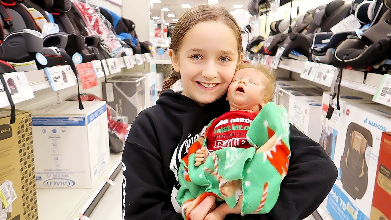 Shopping With Reborn Baby Dolls Olivia For Newborn Baby