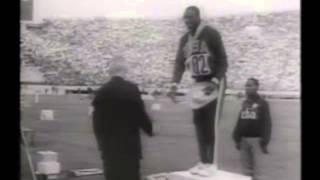 1964年東京オリンピック、男女陸上競技100m決勝