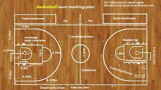 Basketball court easy marking plan