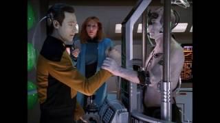 Data vs. Locutus of Borg - Star Trek the next generation