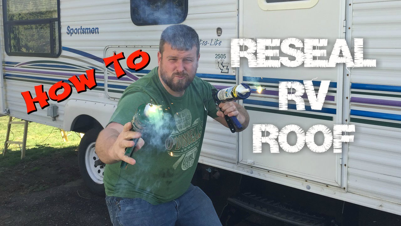 How To Seal Your Rv Roof With Dicor Lap Sealant Youtube
