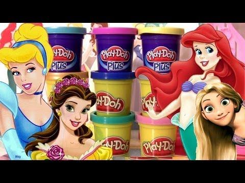 Massinhas PlayDoh Princesas Disney Vestido de Baile Play-Doh Plus Design a Dress Ballroom playset Vídeos De Viagens